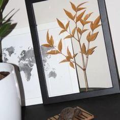 Les feuilles dans tous leurs états dans la maison   Inspiration Nature Decoration, Oversized Mirror, Inspiration, Furniture, Home Decor, Leaves, House, Decorating, Biblical Inspiration