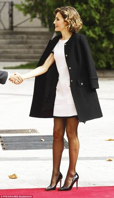 According to the royal site, the daring hemline sparked some debate with some royal follow...