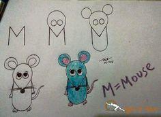 M = Mouse  Teach your kids through this wonderful technique