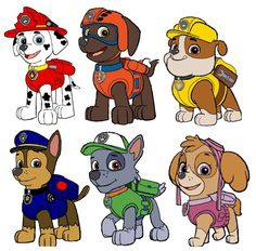 Details about Paw Patrol Iron On T Shirt / Pillowcase Fabric Transfer 2