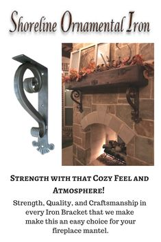 Visit our website for the opportunity to shop for amazing handcrafted iron mantel brackets, candle sconces, wall decor and beautifully hand finished iron wall crosses. www.shorelineornamentaliron.com