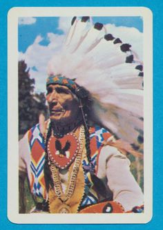 Native American playing card single swap jack of clubs - 1 card