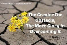 Never let obstacles stop you. Be the one to motivate and inspire.: