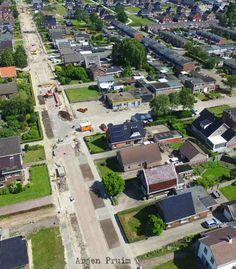 Vorderingen herinrichting Brugstraat Klazienaveen (Foto's)