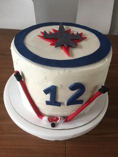 Winnipeg Jets cake Sport Cakes, Cake Cookies, Jets, Cake Ideas, Birthday Ideas, Baking, Desserts, Food, Tailgate Desserts