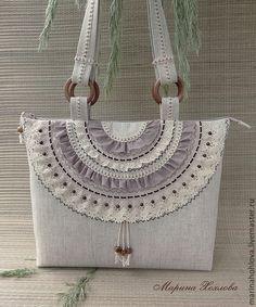 Купить Льняная светлая сумка Три капли солнышка - лен, льняная сумка, летняя сумка