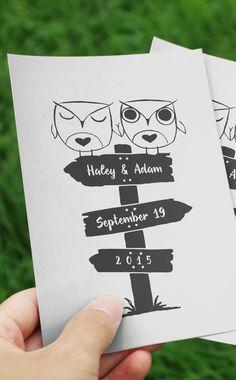 Owl always love you! Wedding logo