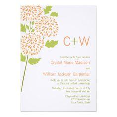 Zazzle - Chrysanthemum Wedding Invitation