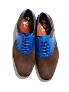 #Zapatos Florsheim by Duckie Brown Saddle blue-brown #Shoes