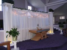 cermoney back drops for wedding  | Ceremony Backdrop- Here is a close up of the lighted backdrop ...