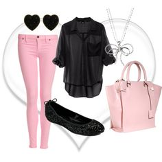 """Black & Pink"" by shelbiestevens on Polyvore"