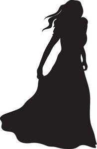 gown clipart image woman silhouette silhouette cameo pinterest rh pinterest com female graduate silhouette clip art female golfer silhouette clip art