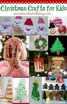 I love these fun Kid Craft ideas for Christmas!