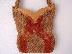 70's Macrame Bag