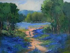 bluebonnet watercolor paintings - Google Search