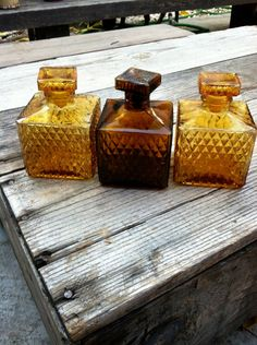 Amber decanters.