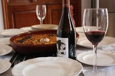 Spanish local food with local wine in our Tours.