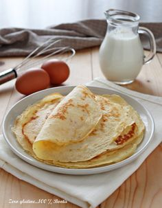Crespelle senza glutine Lactose Free, Dairy Free, Menu Pdf, Antipasto, Sin Gluten, International Recipes, Finger Foods, Gluten Free Recipes, Italian Recipes