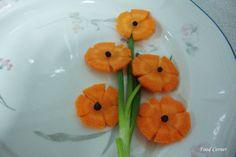 You searched for label/garnish - Food Corner Vegetable Decoration, Carrot Flowers, Food Garnishes, Garnishing Ideas, Vegetable Carving, Food Carving, Fruit Plate, Best Fruits, Food Shows