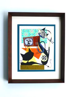 Original Mid Century Modern Inspired Painting by COLBYandFRIENDS, $110.00