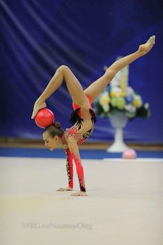 Ball routine- what a beautiful pose.