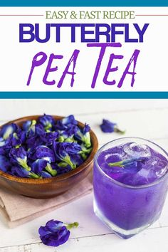 Butterfly Pea Tea takes 10 minutes to make, This blue tea is a beautiful drink you can enjoy hot or ice cold. Learn about its health benefits too. Tea Benefits, Health Benefits, Butterfly Pea Flower Tea, Beverages, Tea Drinks, Cocktails, Homemade Tea, Fast Easy Meals, Healthy Drinks