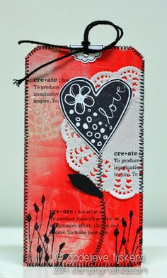 StampingMathilda: Carved Heart Tag