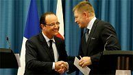 France and Slovakia could become close partners especially in the field of nuclear energy and the issue of addressing youth unemployment, French President Francois Hollande and Slovak Prime Minister Robert Fico agreed on Tuesday during Hollande's first visit to Slovakia. Click on the picture for the full story.