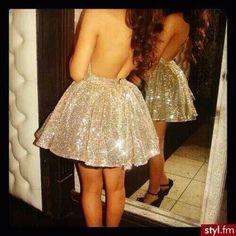 sparkly, glittery dress