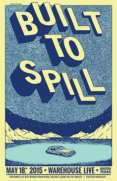 GigPosters.com - Built To Spill - Wooden Indian Burial Ground - Clarke And The Himselfs