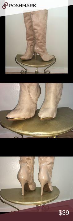 Spotted while shopping on Poshmark: ⚜Gold Toe Blonde Vegan Suede Boots⚜! #poshmark #fashion #shopping #style #Scene #Shoes