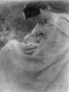 Delighted to find this photo of a breastfeeding mum from 1905