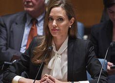 Angelina Jolie speaks before the U.N. (Landov)