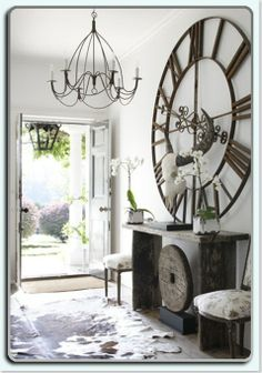 10 Less Traditional Things To Fill Bare Walls. Oh my goodness I love this gigantic clock