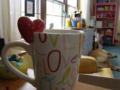 coffee cup idea for pottery painting