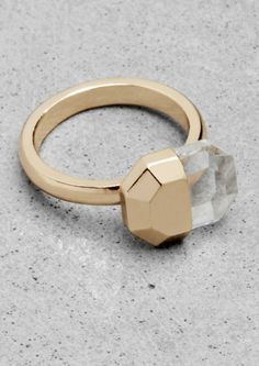 Gold Rhinestone Ring