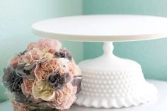 Shabby Chic Cake Stand for Shabby Chic Weddings by TheRocheStudio, $160.00