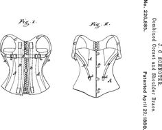 Combined Corset and Shoulder Brace.
