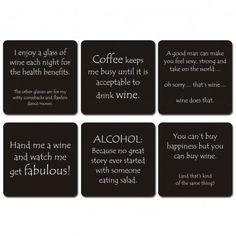 funny wine coasters - Google Search