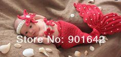 Baby Mermaid Crochet Pattern Free | Infant Mermaid Cocoon Outfit With Headband Flower 10 sets/lot free ...