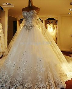 Wholesale Hot Sale Zuhair Murad Ball Gown Sweetheart Swarvoski Crystal Rihne Stone Train Wedding Prom Dresses, Free shipping, $291.2-336.0/Piece | DHgate