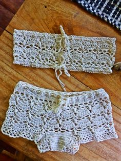 FATIMA CROCHET: crocheted boyshorts