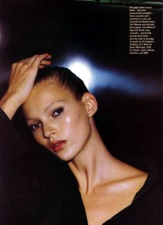 Kate Moss photographed by Steven Klein for Mademoiselle Nov. 1993