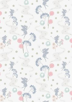 Half metre Make Another Wish A55-4 Fairy on White Lewis & Irene Patchwork Quilting Fabric