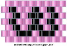 Brick Stitch Bead Patterns Journal: W - Alphabet 1 Free Brick Stitch Bead Pattern