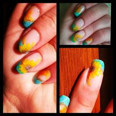 Sunflowers on nails