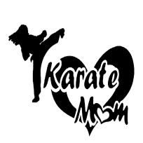 DECAL, KARATE MOM,MARTIAL ARTS STICKER, WALL TRANSFER, WALL GRAPHIC
