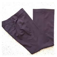 Dress pants Eggplant color. Gently worn. Great condition LOFT Pants Wide Leg