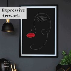 Art is a great way to express your personality in your interior. From humorous art to beautiful abstract art, there is no limit to how art can transform your home. Fake Plants, Artificial Plants, Decorative Accessories, Home Accessories, Rockett St George, Funny Art, Personality, Abstract Art, Display