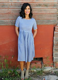 This dress is one that will be a favorite for any and every season and occasion. It is one of those dresses that can be worn with flip flops or fancy heels.